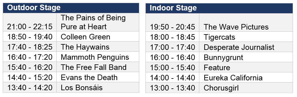 Saturday schedule 1